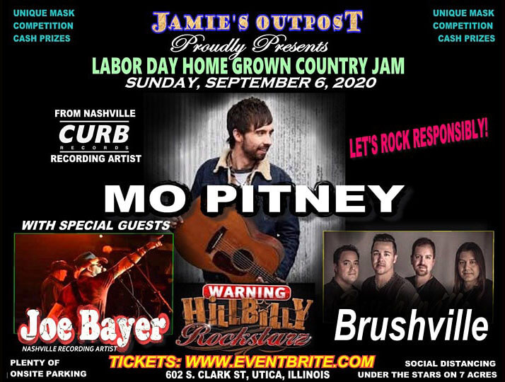 Jamie's Outpost presents Country Night featuring Mo Pitney.